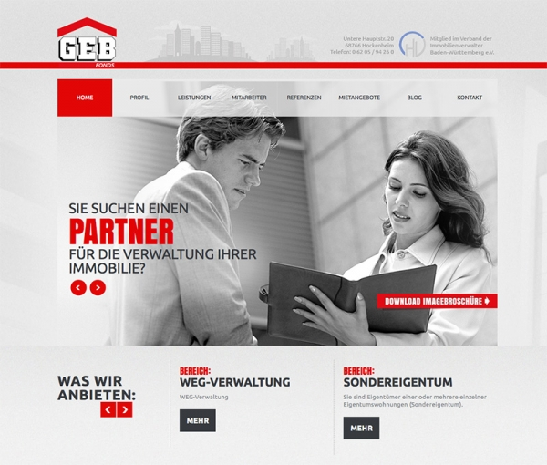 GEB - Homepage Relaunch